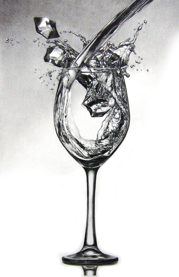 枝川真理の細密鉛筆画 Aqua