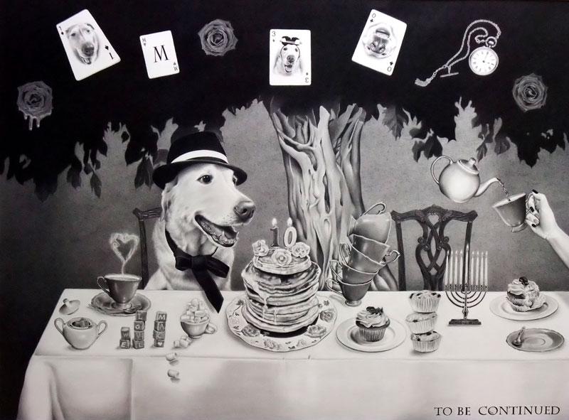 枝川真理の細密鉛筆画 我家の愛犬