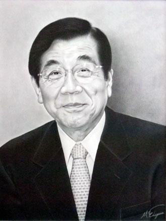 枝川真理の細密鉛筆画 勝岡 洋治先生